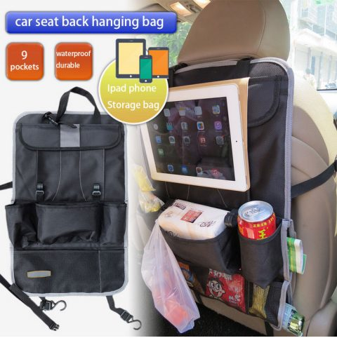 Multi-functional large-capacity car seat back hanging bag car storage bag