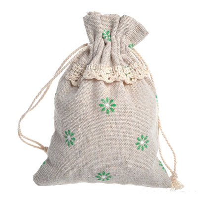 natural color cotton gift drawstring bag