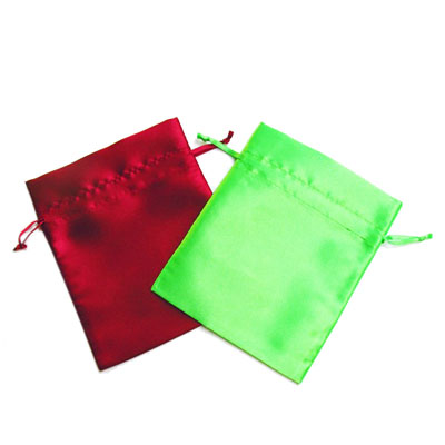 satin drawstring jewelry pouches