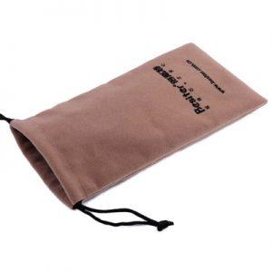 Velvet glass drawstring bag
