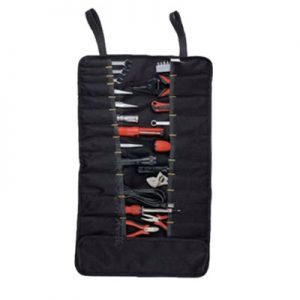 Canvas rolling tool bag