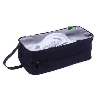 Clear window gym shoes travel bag