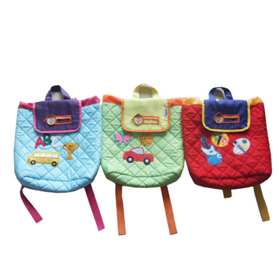 Quilted cotton kids backpack