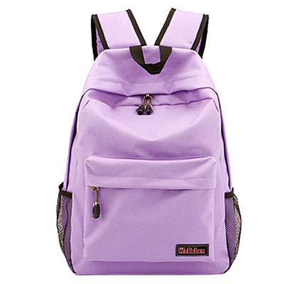 Casual solid color Oxford school backpack