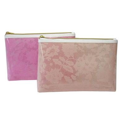 printed clear PVC cosmetic bag