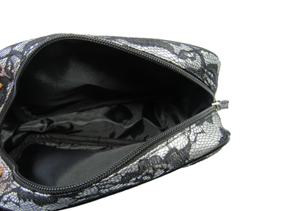 lace with pu cosmetic bag