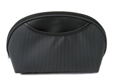 stripe nylon cosmetic bag