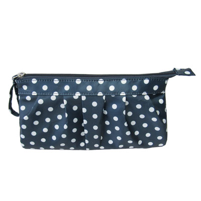 white dots printed women cosmetic bag
