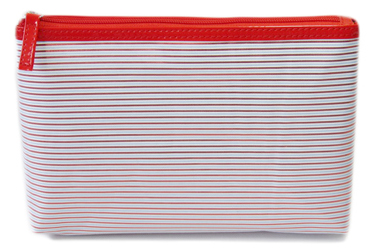 stripe polyester cosmetic bag