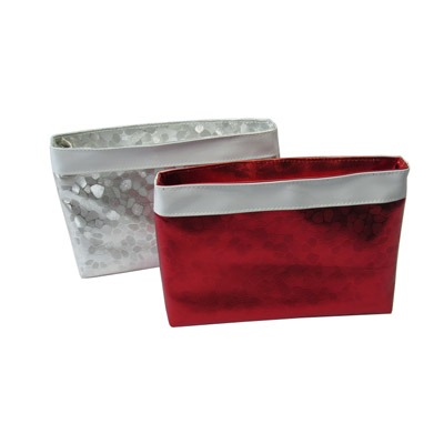 shiny PU leather elegant cosmetic bag