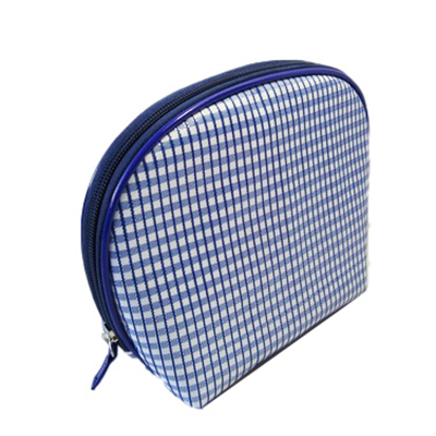 Shell shape grid printing makeup bag