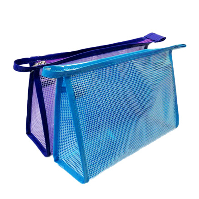 Cheap waterproof clear mesh cosmetic bag