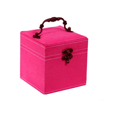 Pink velvet small cosmetic case