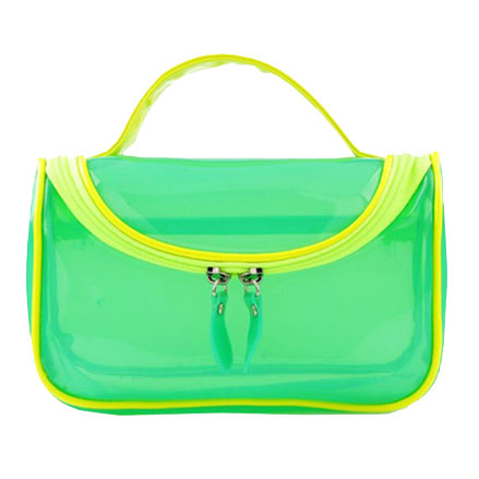 Colorized clear PVC cosmetic bag toilet bag
