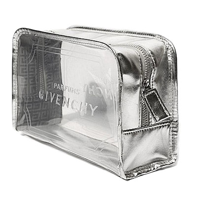 Square clear window cosmetic bag