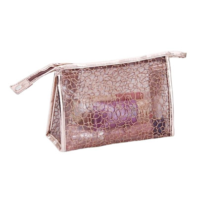 Clear PVC lace cosmetic bag