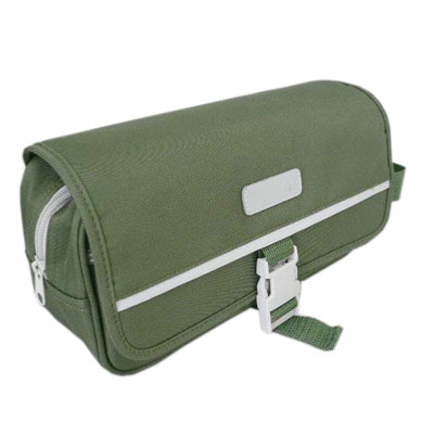 army green men travel wash bag