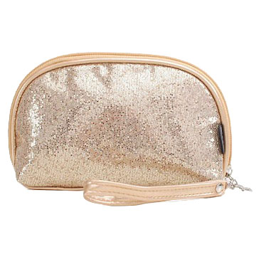 Metal sequins shell shape cosmetic bag