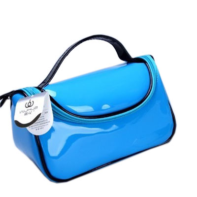 bright pu cosmetic bag