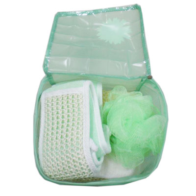 Clear PVC toiletry bag for bath set