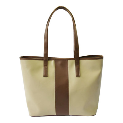Narrow easy take handle PVC women tote bag