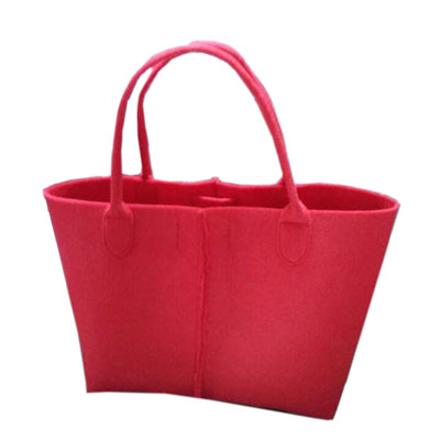 Chinese red new style felt shopping tote bag