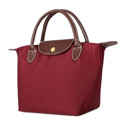 Foldable handle tote shopping bag