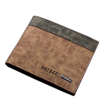 Scrubbing effect retro Short style mens wallet