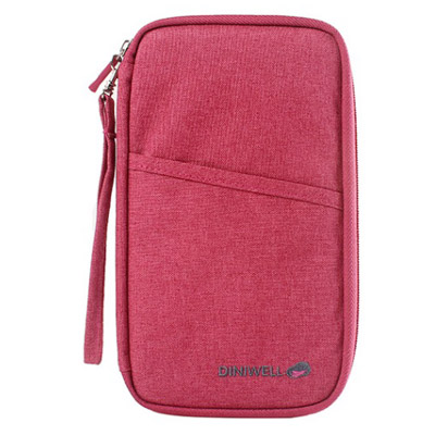 Nylon long zipper multi-card wallet