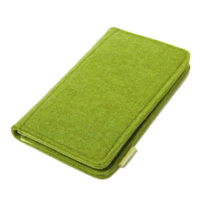 Felt two fold wallet phone wallet