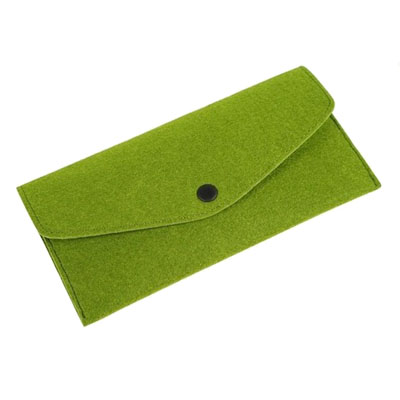Custom long multi-card felt wallet