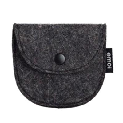 Semi-circular felt coin bag