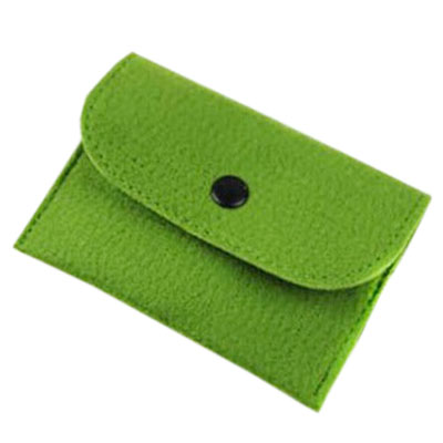 Double-sided felt coin wallet
