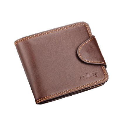 Tri fold men PU leather short wallet