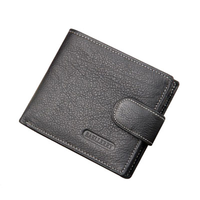 Fake leather multi-card short wallet for men