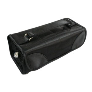 Satin roll up cosmetic bag