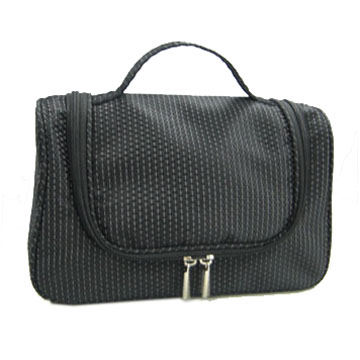 Nylon Jacquard Cosmetic Bag with U shape zipper