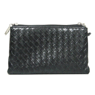 Two zipper two pockets cosmetic bag