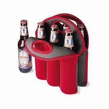 Neoprene six pack wine bottle bag
