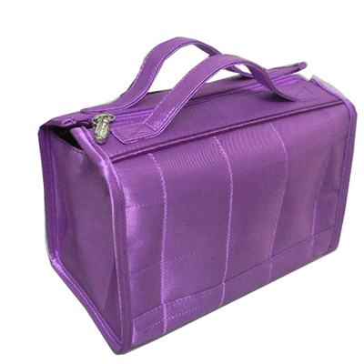 Two handles satin PVC cosmetic bag