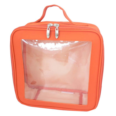 Cosmetic bag with clear window