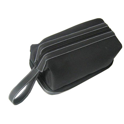 Fashion classic cosmetic bags with iron wire