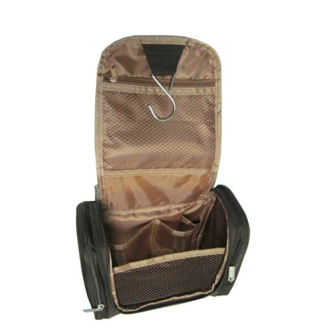 Hanging cosmetic travel toiletry bag