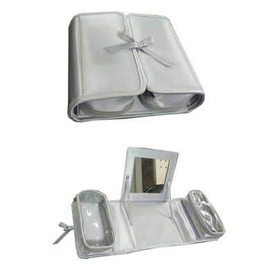 Satin make up bag in two fold