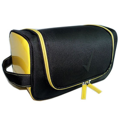 Classic mens travel cosmetic bags with webbing handle