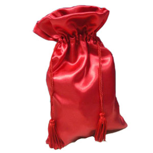 Drawstring satin gift bag