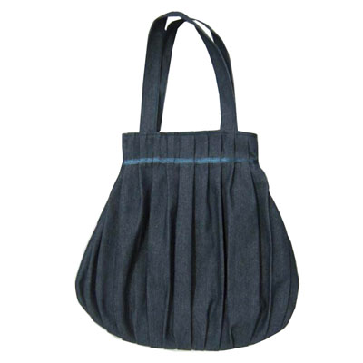 Jeans/Canvas folded shopping handbag for women/girls/ladies