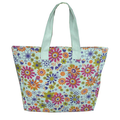 Printed canvas shopping/beach bag