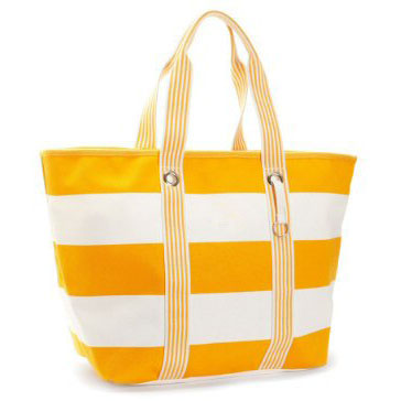 600D stripe beach bags