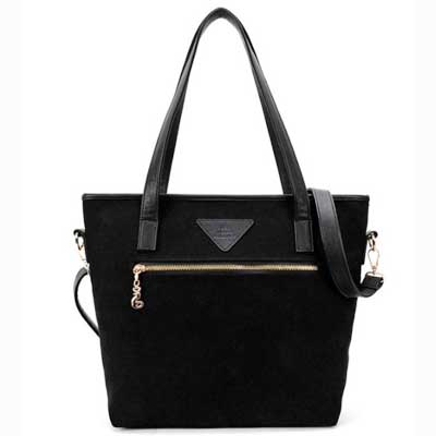 Ladies canvas tote bag with shoulder strap